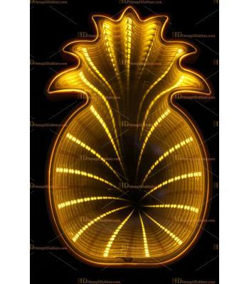Toptan 3D tünel lamba ananas sarı