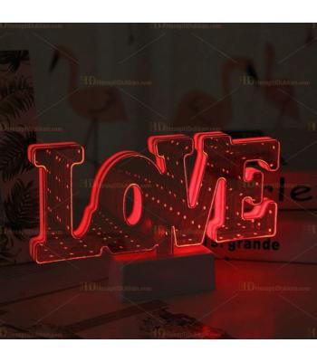 Love Tünel 3D Lamba