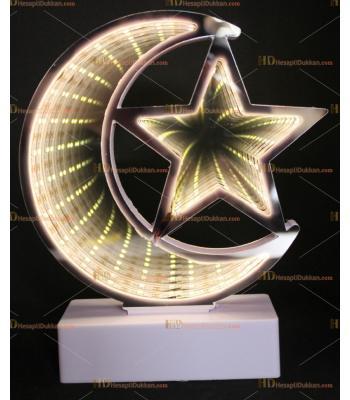 Toptan 3D tünel lamba ay yıldız beyaz
