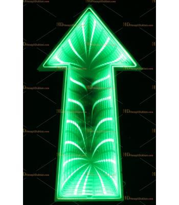Toptan 3D tünel lamba yeşil ok