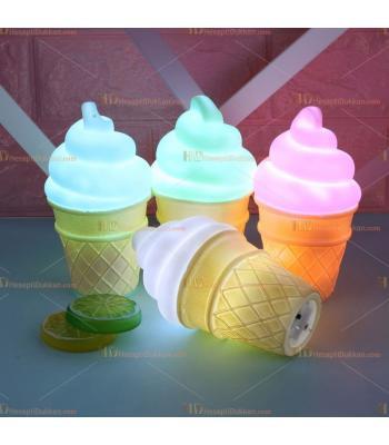 Toptan şirin dondurma gece lambası