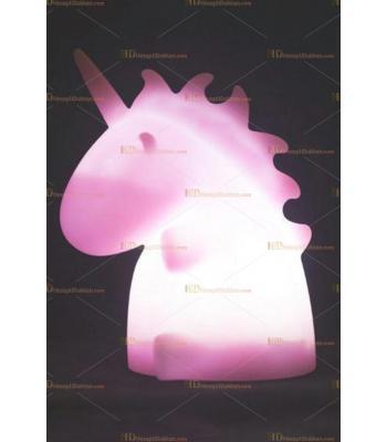 Toptan şirin unicorn ejderha gece lambası pembe