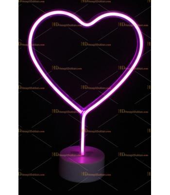 Toptan Led neon lamba Çift Yüz Kalp