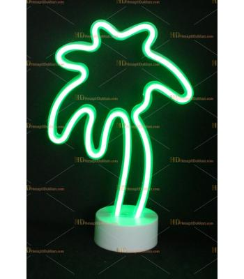 Toptan neon lamba yeşil palmiye ağacı