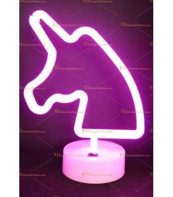 Toptan Neon lamba pembe unicorn