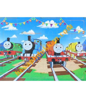 Toptan Ahşap puzzle arkadaş trenler