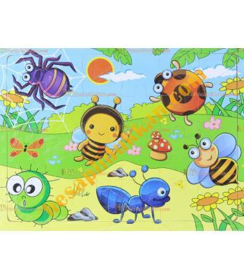 Toptan Ahşap puzzle sevimli böcekler