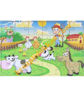 Toptan  Ahşap puzzle Ali babanın çiftliği