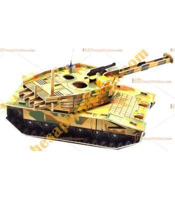 Toptan 3d puzzle Abrams main battle tank 4 karton 64 parça