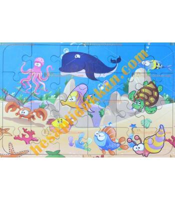 Toptan  Ahşap puzzle Deniz hayvanları