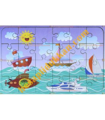 Toptan Ahşap puzzle deniz taşıtları