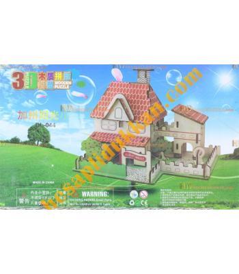 Toptan 3d Ahşap puzzle yayla evi