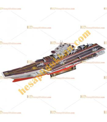 Toptan 3d puzzle uçak gemisi 4 karton 51 parça