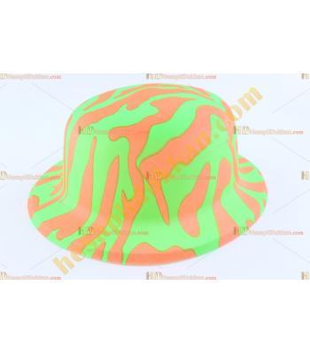 Toptan plastik parti şapkası yeşil turuncu safari