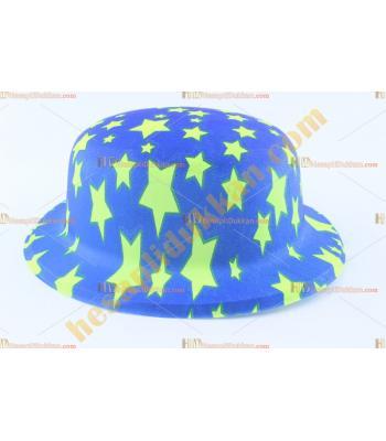 Toptan plastik parti şapkası mavi sarı yıldız
