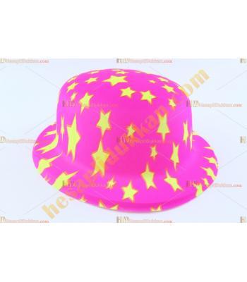 Toptan plastik parti şapkası pembe sarı yıldız