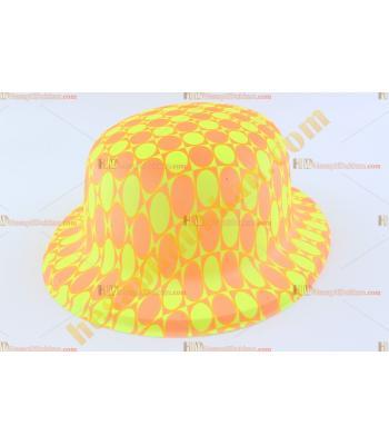 Toptan plastik parti şapkası sarı kırmızı kareli