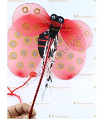 Toptan uğur böceği kanat asa taç set ucuz fiyat