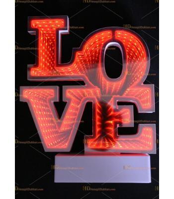 Toptan 3D tünel labma Love