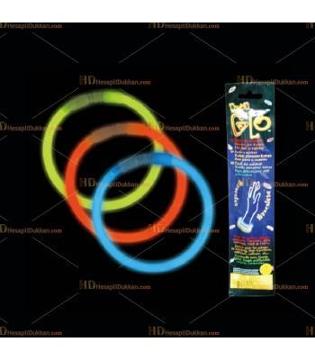Glow ışıklı bileklik üçü bir arada paket