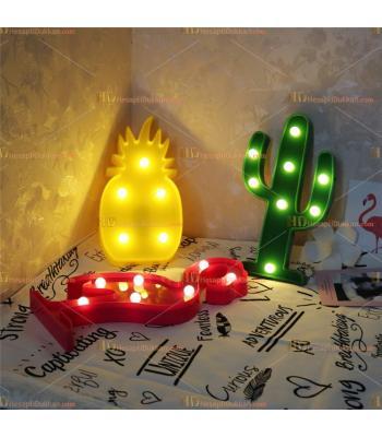 Toptan kaktüs led lamba küçük sarı ananas