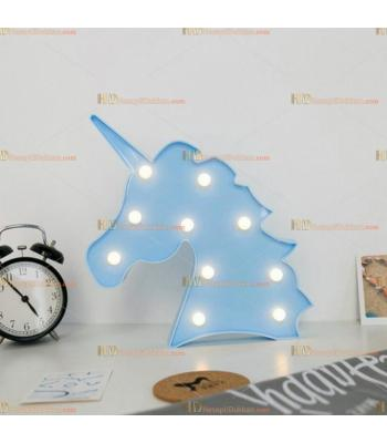 Toptan kaktüs led lamba küçük mavi unicorn