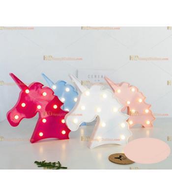 Toptan kaktüs led lamba küçük sarı unicorn