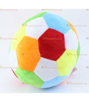Toptan peluş renkli çınçınlı futbol topu
