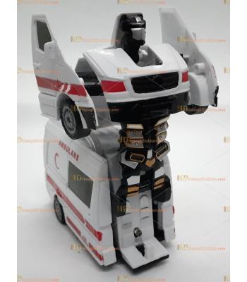 Toptan robot olan ambulans araba oyuncak