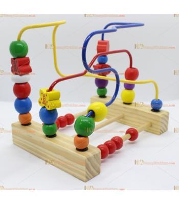 Toptan ahşap abaküs telli şekil taşıma eğitici oyuncak