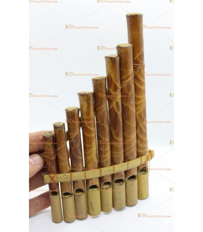 Ahşap bambu pan flüt otantik hediyelik eşya