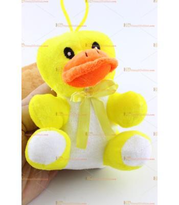 Toptan orta boy sarı peluş ördek 18 cm
