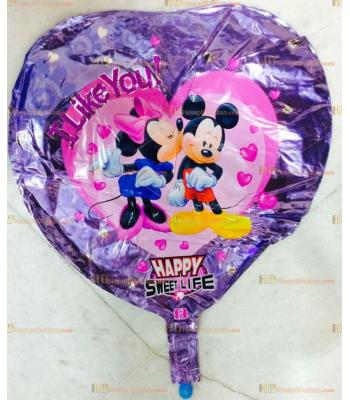 Toptan kalpli mini miki helyum folyo uçan balon