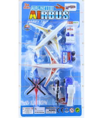 Toptan oyuncak iki uçaklı hava alanı seti