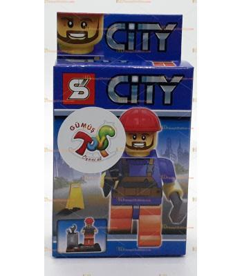 Toptan oyuncak lego figür işçi