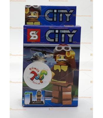 Toptan oyuncak lego figür pilot