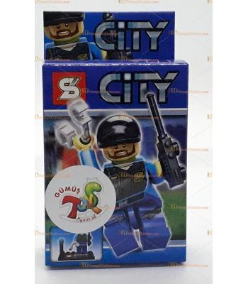 Toptan oyuncak lego figür swat