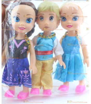 Toptan oyuncak bebek üçlü frozen set yeni model