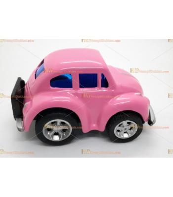 Toptan vosvos oyuncak araba mini pembe çek bırak metal