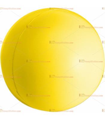Toptan ucuz fiyat promosyon stres topu büyük boy logosuz sarı