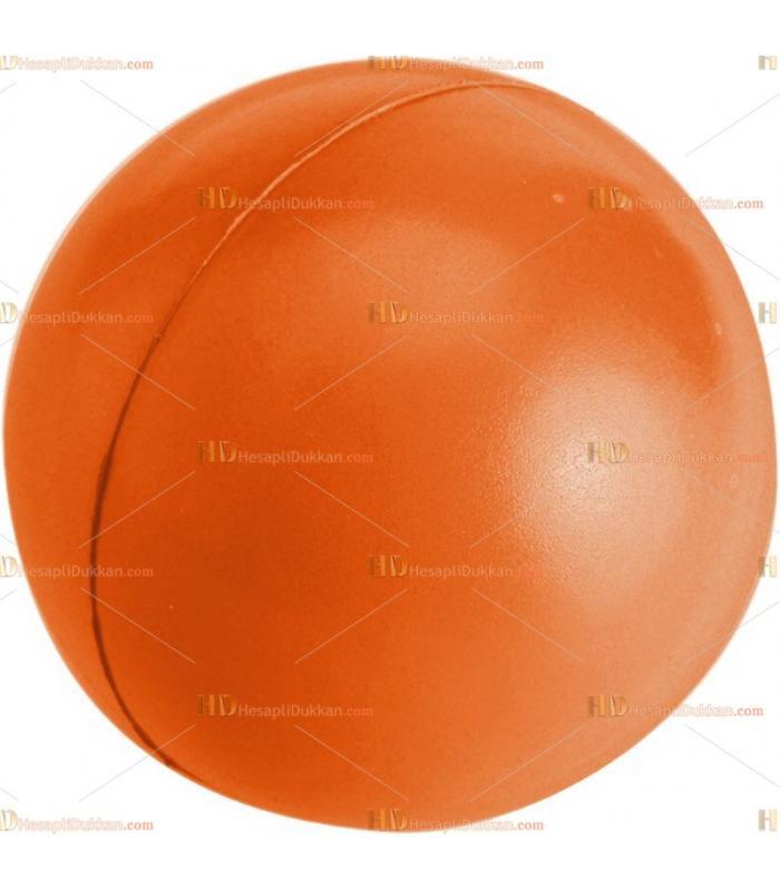 Toptan ucuz fiyat promosyon stres topu büyük boy logosuz turuncu