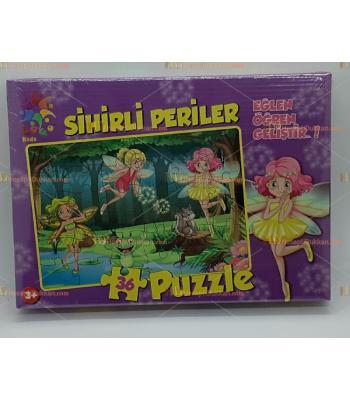 Toptan sihirli periler puzzle 70 parça