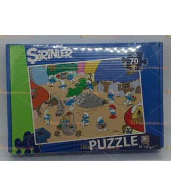 Toptan şirinler puzzle 70 parça