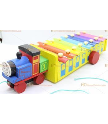 Toptan tomas tren çekçek ipli selefon eğitici oyuncak