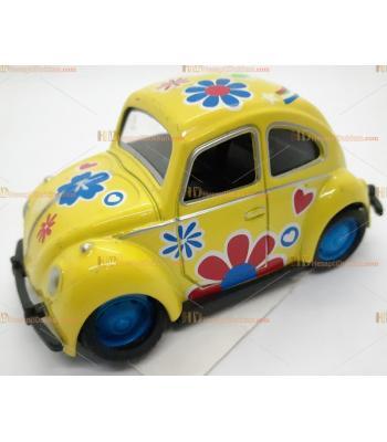 Toptan oyuncak vosvos araba çek bırak metal Sarı