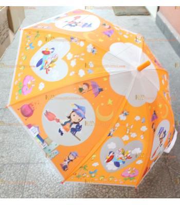 Toptan promosyon çocuk şemsiye ucuz fiyat turuncu