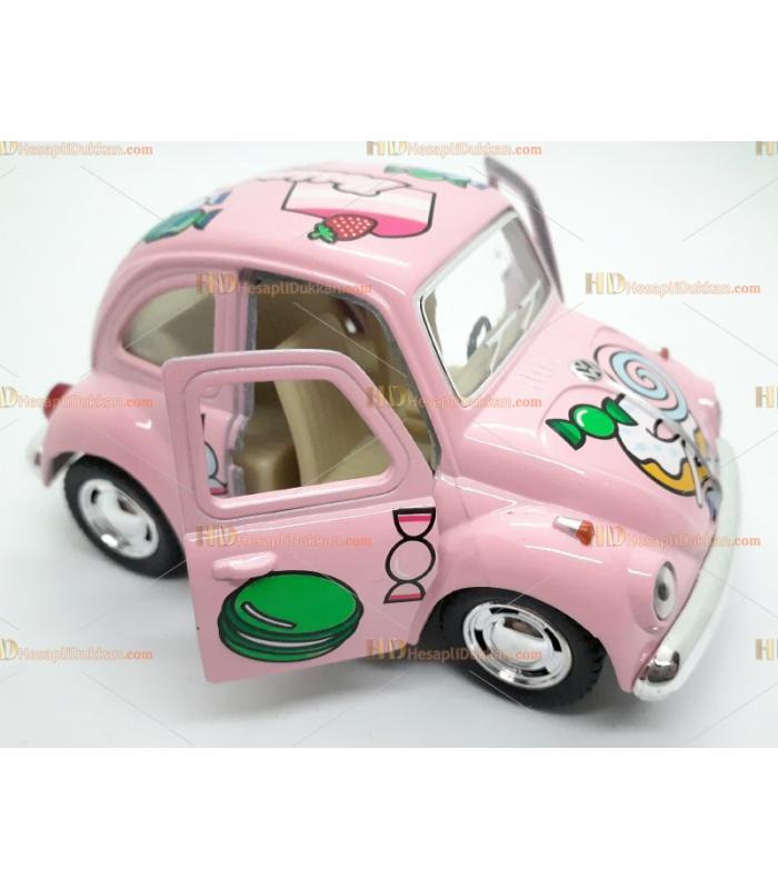 Toptan oyuncak araba çek bırak şekerli vosvos pembe