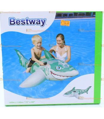 Toptan 1.83 m şişme köpek balığı can simidi havuz oyuncağı