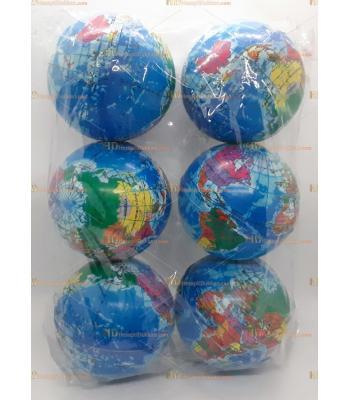 Toptan 10 cm dünya haritası stres topu