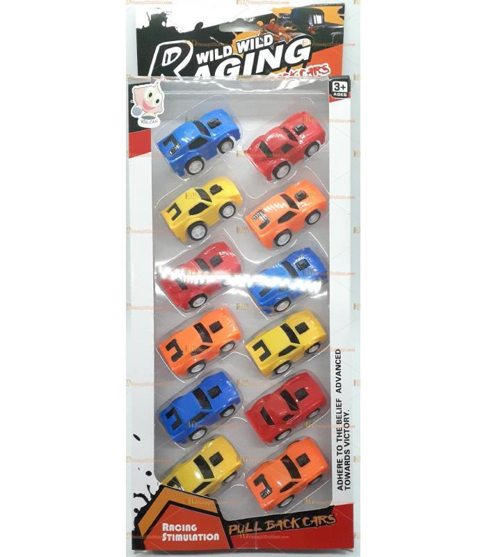 Toptan 12 li mini araba seti it bırak oyuncak